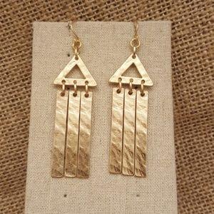 Jewelry - Triangle Wind Chime Earrings